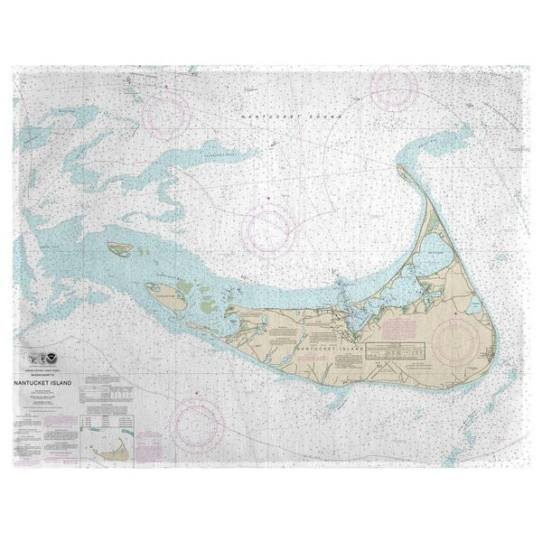 Nantucket Island, MA 18 Placemat (Set of 4) by East Urban Home