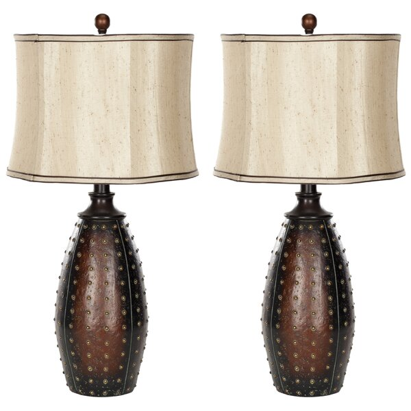 Leather 28 Table Lamp (Set of 2) by Safavieh