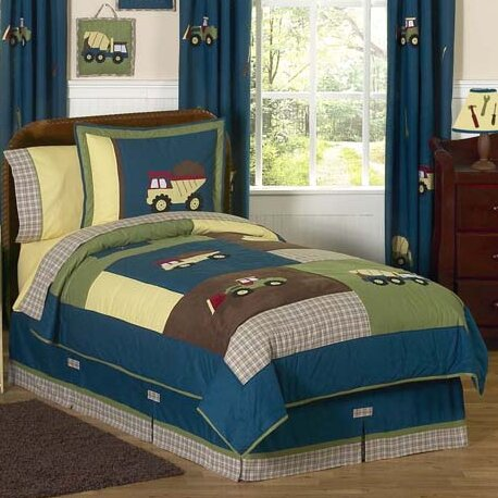 Construction Zone 4 Piece Twin Comforter Set by Sweet Jojo Designs