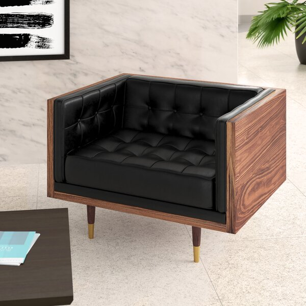 Lancaster Leather Lounge Chair By Upper Square™