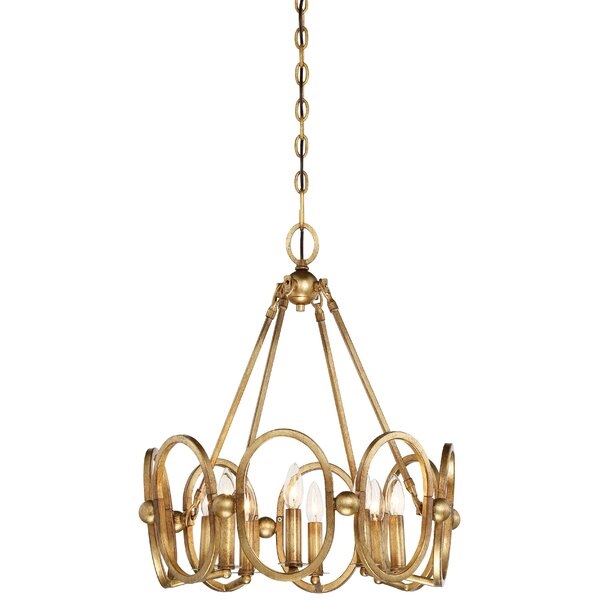 Clairpointe 8-Light Candle Style Geometric Chandelier By Metropolitan By Minka