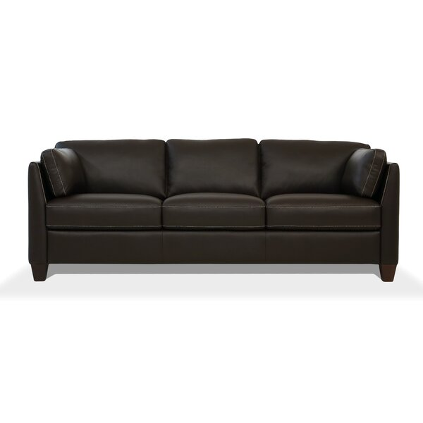 Price Compare Neace Leather Sofa by Latitude Run by Latitude Run