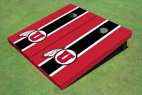 NCAA 10 Piece Matching Long Stripe Cornhole Board Set by All American Tailgate