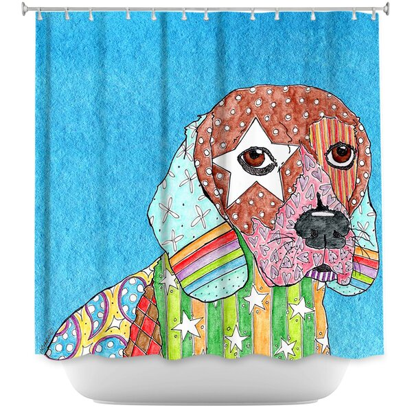 Beagle Dog Shower Curtain by East Urban Home