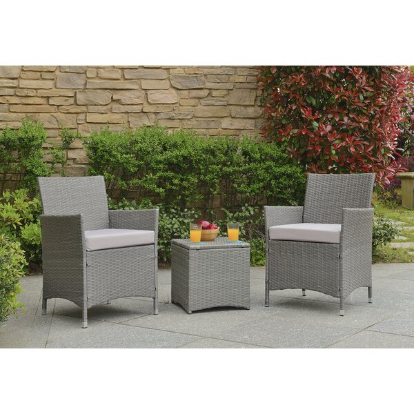 Almus 3 Piece Rattan With Cushions By Zipcode Design