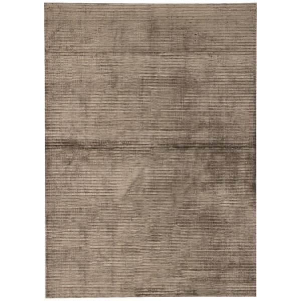 Gabbeh Hand-Knotted Wool Gray Area Rug by Bokara Rug Co., Inc.