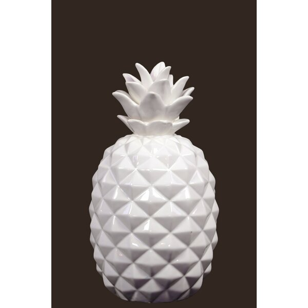 Kittleson Elegant Pineapple Ceramic Sculpture by Brayden Studio