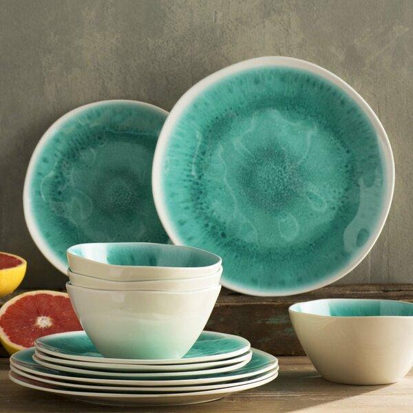 Devere Glaze  12 Piece Melamine Dinnerware Set, Service for 4 by Mistana