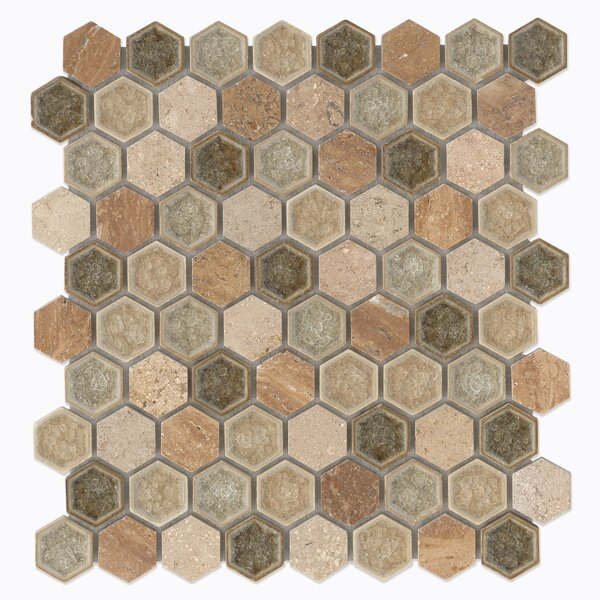 Verge Meditate Hexagon Mosaic Tile by Grayson Martin