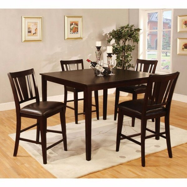 Felten Wooden Square Top 5 Piece Counter Height Dining Table Set by Darby Home Co