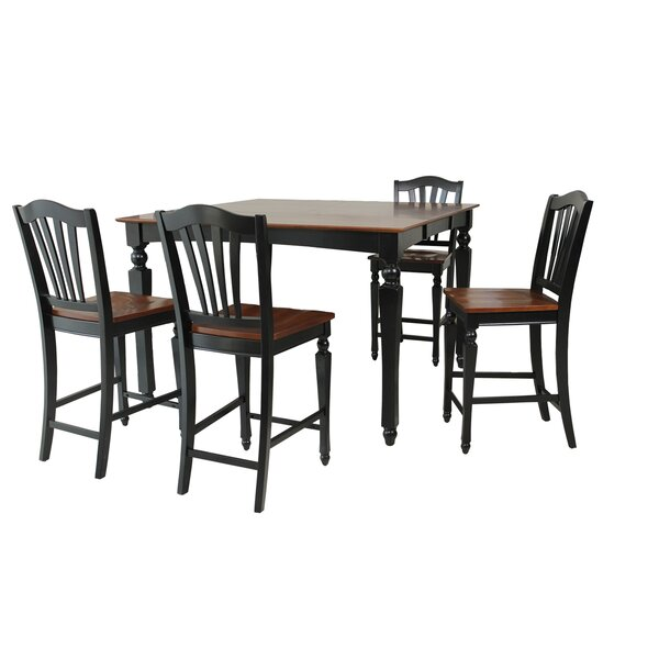 Mirella 5 Piece Counter Height Dining Set by Darby Home Co