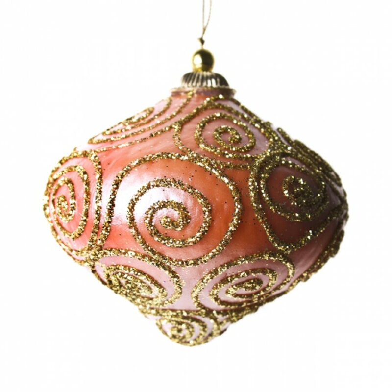 die saisontruhe geformtes ornament glitter swirl minaret. Black Bedroom Furniture Sets. Home Design Ideas