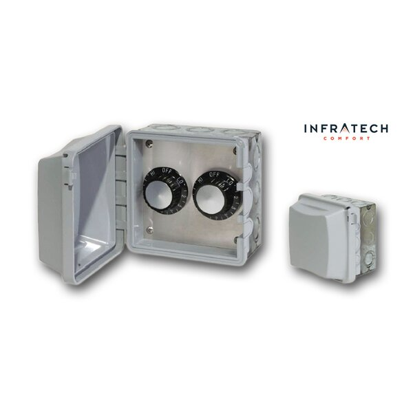 INF Double In-Wall Waterproof Control Thermostat By Infratech