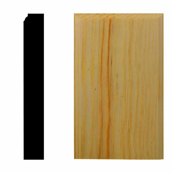 7/8 in. x 3-1/2 in. x 6 in. Pine Plinth Block Moulding by Manor House