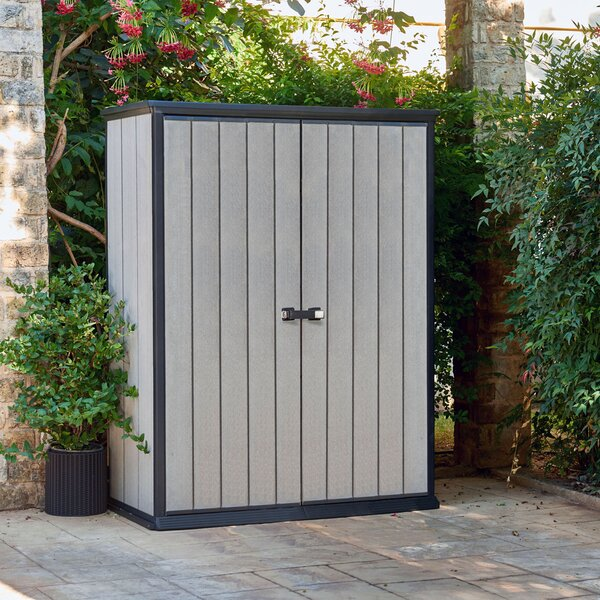 High Store 5 ft. W x 3 ft. D Plastic Vertical Tool Shed by Keter