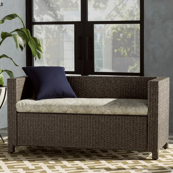 Geometric Indoor/Outdoor Bench Cushion by World Menagerie
