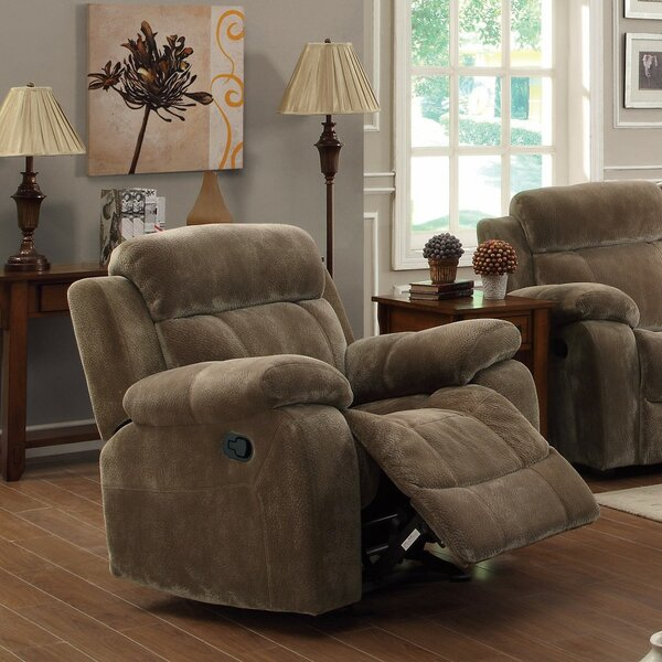 Franich Attractive Glider Recliner with Pillow Arms