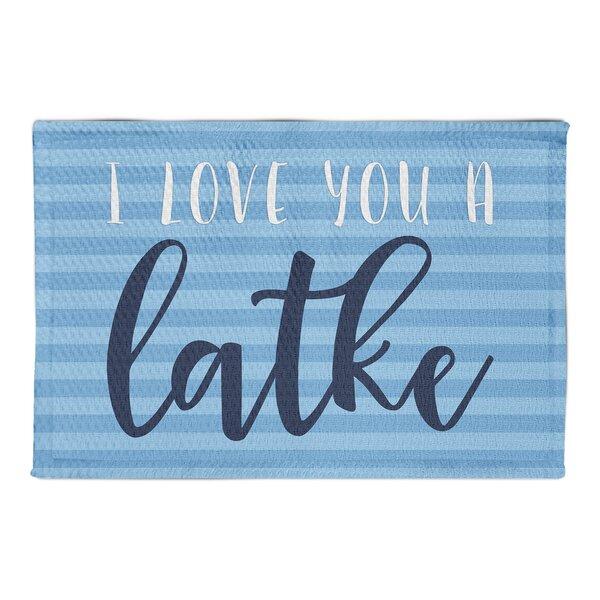 Tubbs I Love You A Latke Blue Area Rug by The Holiday Aisle