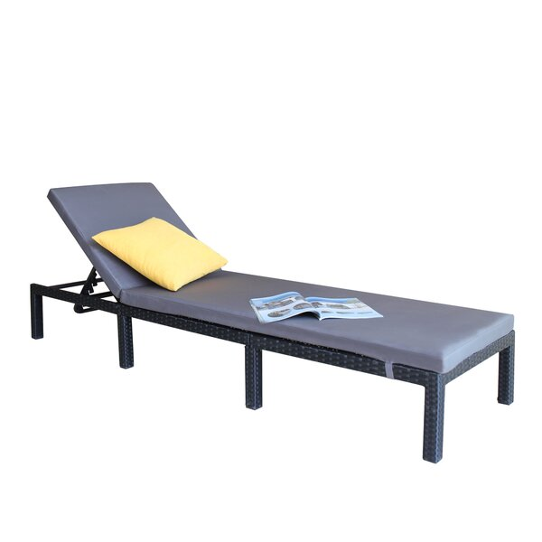 Scottsville Reclining Chaise Lounge with Cushion