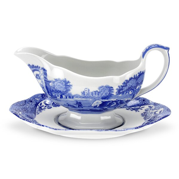 Blue Italian 9 oz. Gravy Boat by Spode