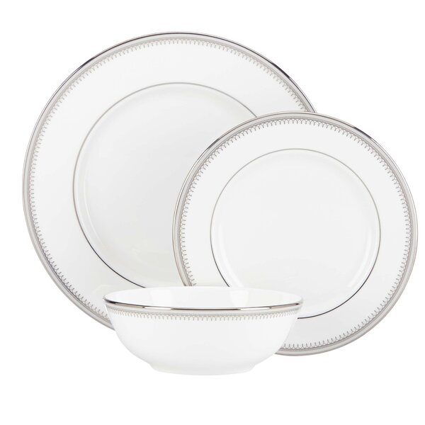 Belle Haven Bone China 3 Piece Place Setting, Service for 1 by Lenox