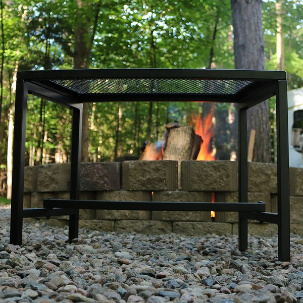 Odalis Mesh Metal Patio Fire Pit Bench by Freeport Park Freeport Park