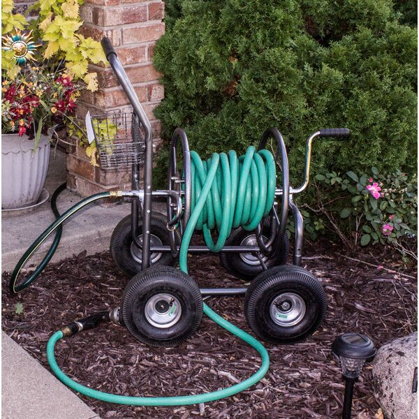 Outdoor Hose Reel Cart by Backyard Expressions