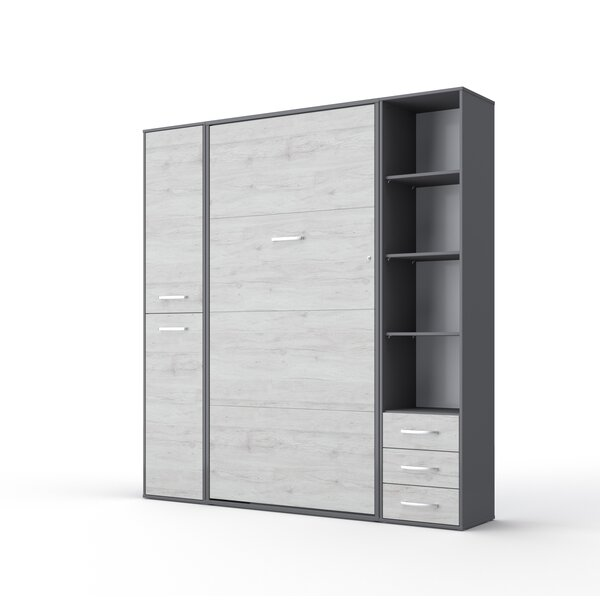 Cave Vertical Full Storage Murphy Bed With Mattress By Orren Ellis by Orren Ellis Reviews