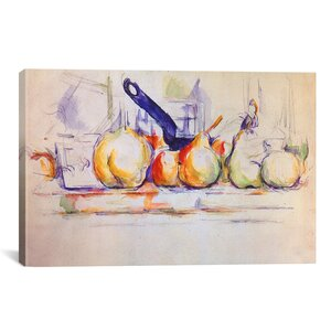 'Still Life with Saucepan, 1902' by Paul Cezanne Painting Print on Wrapped Canvas by iCanvas