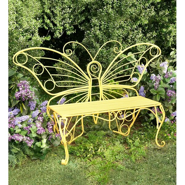 Butterfly Steel Garden Bench by Plow & Hearth