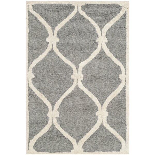 Martins Hand-Tufted Gray Area Rug by Wrought Studio