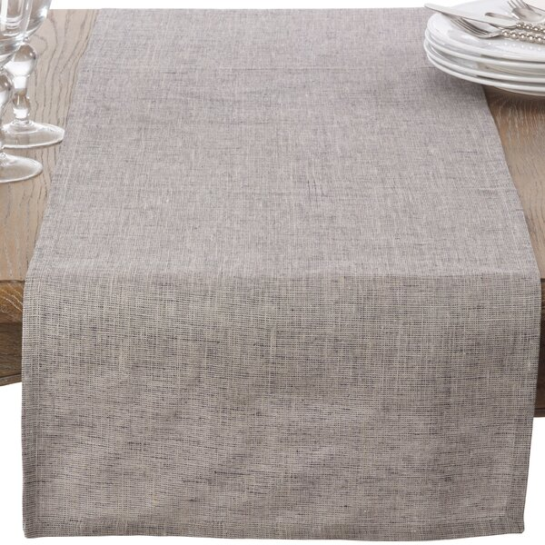 Classic Heavy Denier Linen Table Runner by Saro