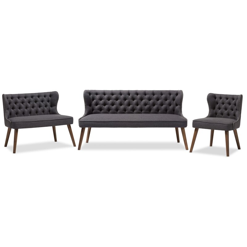 Santo 3 Piece Living Room Set
