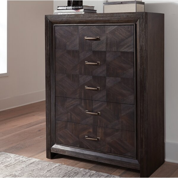 Divij 5 Drawers Dresser by Wrought Studio