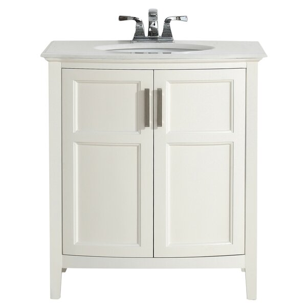 Winston 31 Single Rounded Front Bathroom Vanity Set by Simpli Home