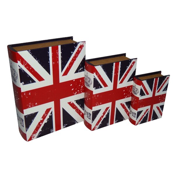Vibrant Union Jack Book Box (Set of 3) by Cheungs