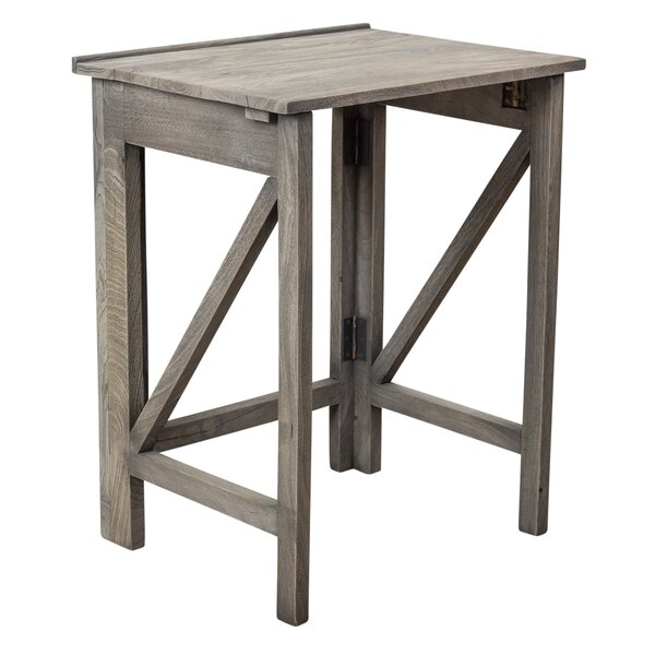 Kathleen Folding End Table by Millwood Pines Millwood Pines