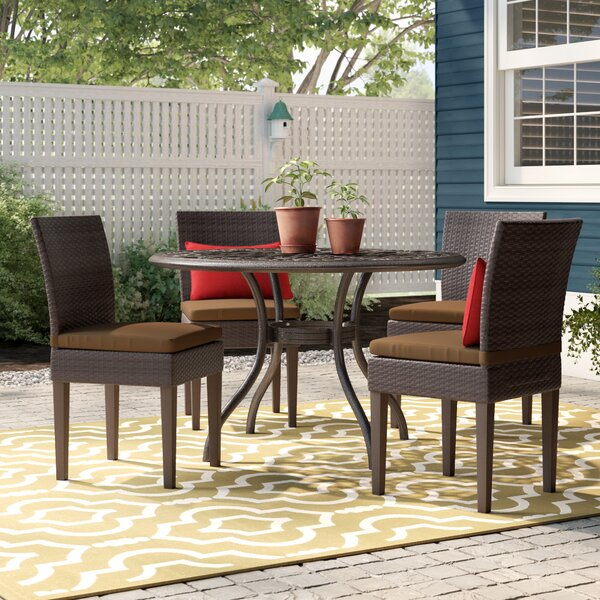 Fernando Patio Dining Chair with Cushion (Set of 4) by Sol 72 Outdoor