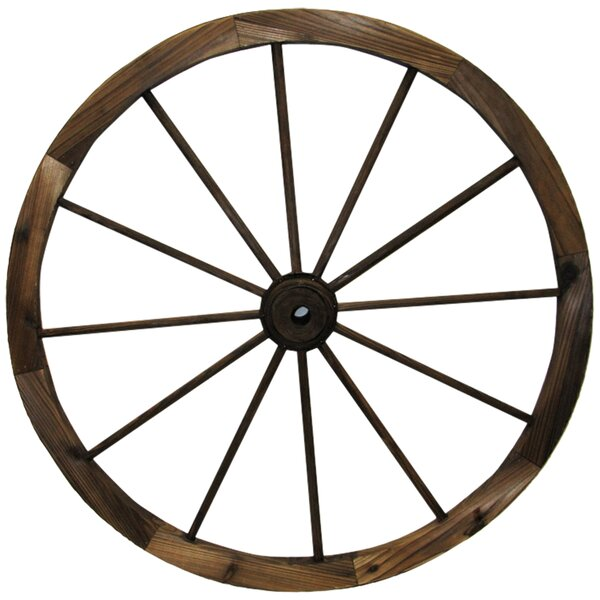 Charred Wagon Wheel Wall Décor by Leigh Country