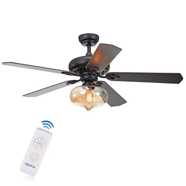 52 Osiris 5 Blade Ceiling Fan with Remote by Alcott Hill