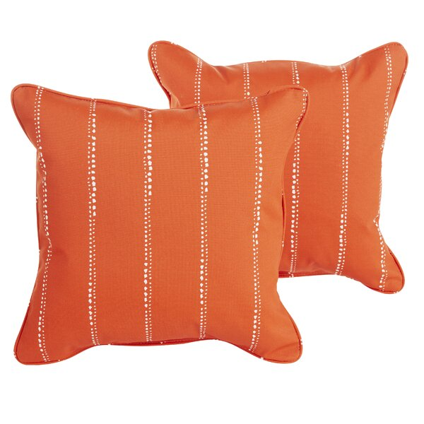 Balentine 18 Square Indoor/Outdoor Throw Pillow (Set of 2) by Wade Logan