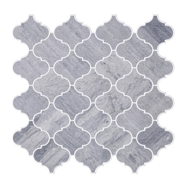Shrine Veined Marble Tile in Gray by Byzantin Mosaic