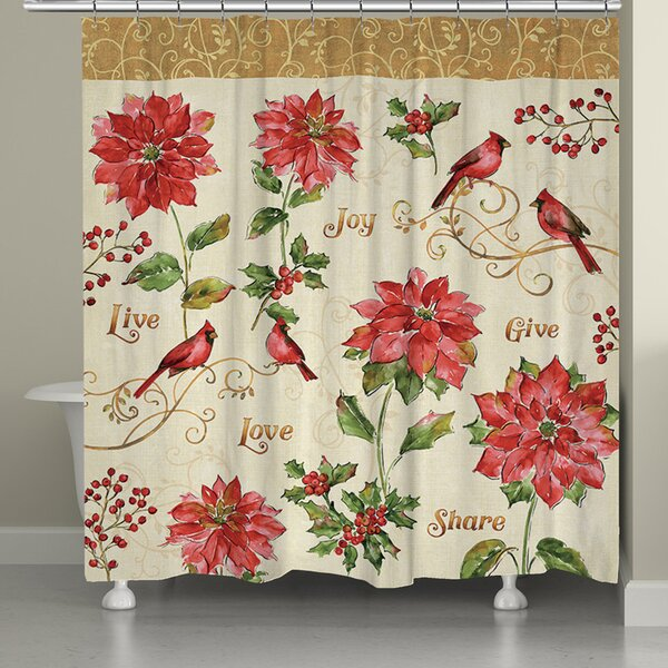Holiday Red Christmas Shower Curtain by Laural Home
