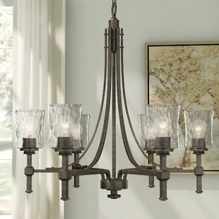 Inexpensive Berns 6-Light Shaded Chandelier By Three Posts