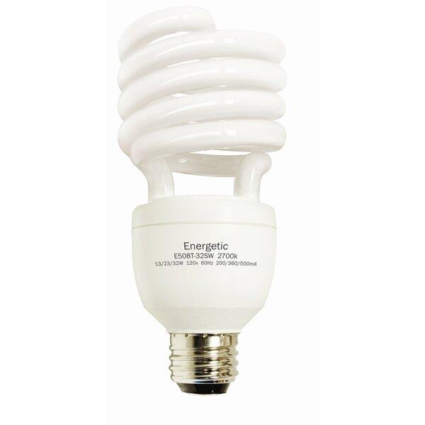 E26/Medium Compact Fluorescent Light Bulb (Set of 2) by Energetic Lighting
