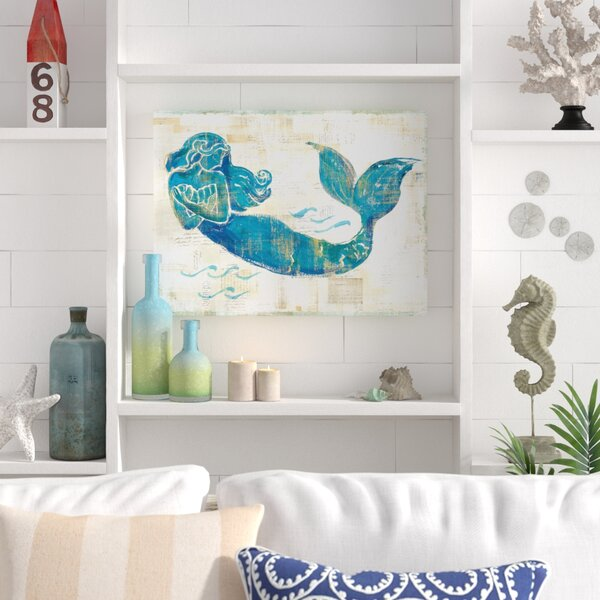 'On The Wave II' Painting nautical decor shabby chic wall decor