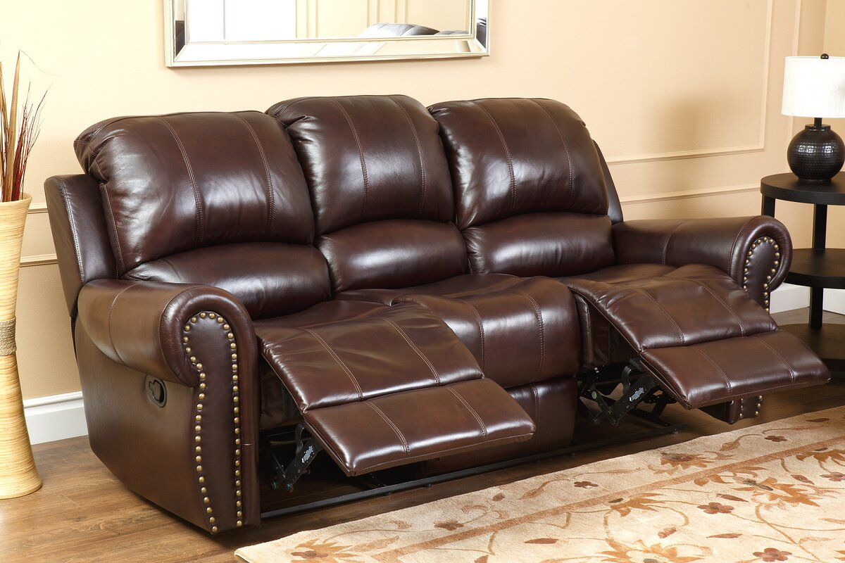 Darby home co barnsdale 2 piece leather living room set reviews 2 piece leather living room set