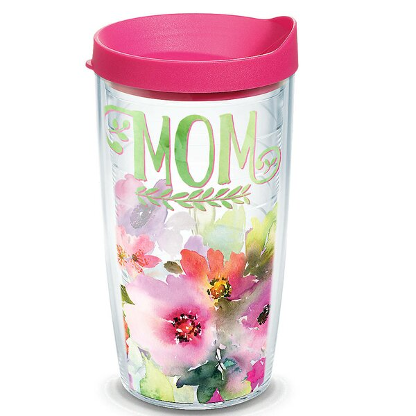 Celebrate Life Mom Watercolor Floral Plastic Travel Tumbler by Tervis Tumbler