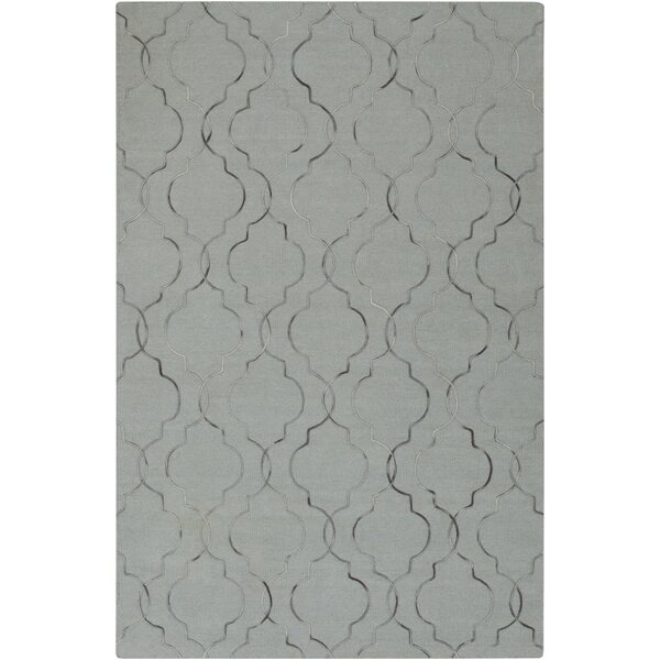 Freudenburg Slate/Black Geometric Rug by Darby Home Co