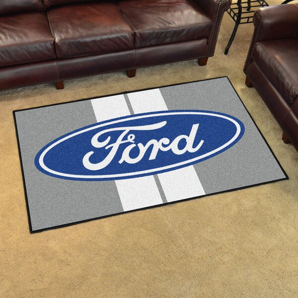 Ford - Ford Oval with Stripes Tailgater Mat by FANMATS